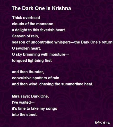 meerabai biography in english the dark one is krishna poem by mirabai poem hunter