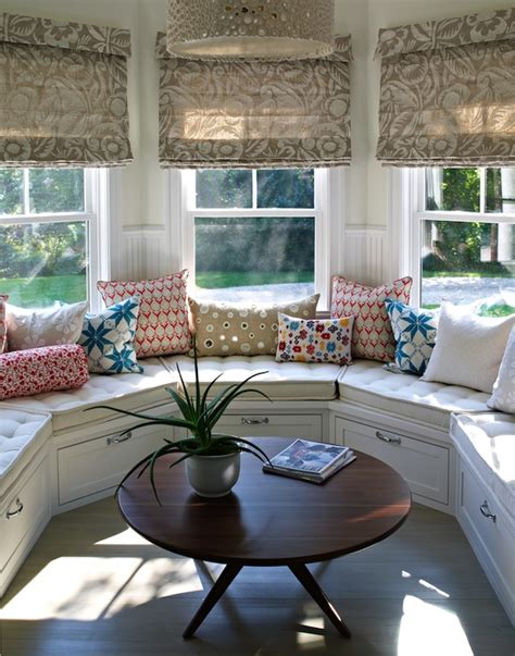 curved window seat curved window seat transitional deck patio