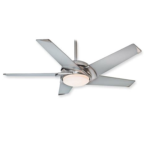 polished nickel ceiling fan casablanca stealth 59094 ceiling fan brushed nickel w