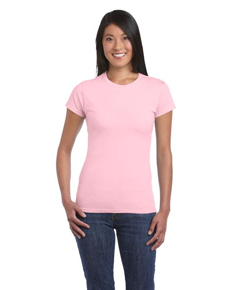 Gildan Softstyle Light Pink by Gildan Softstyle Női P 243 L 243 Light Pink L P 243 L 243 T Shirt