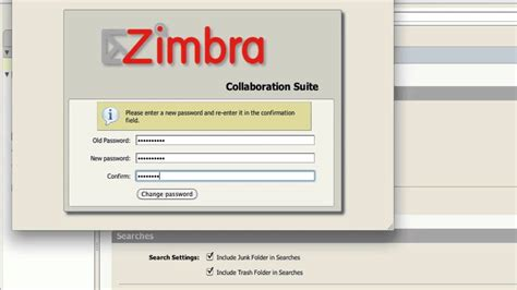 tutorial zimbra email tech tip 5 zimbra tutorial change password youtube