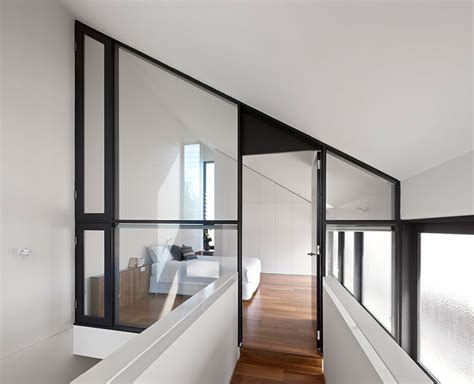 bedroom with glass walls north fitzroy house contemporary extension makes no