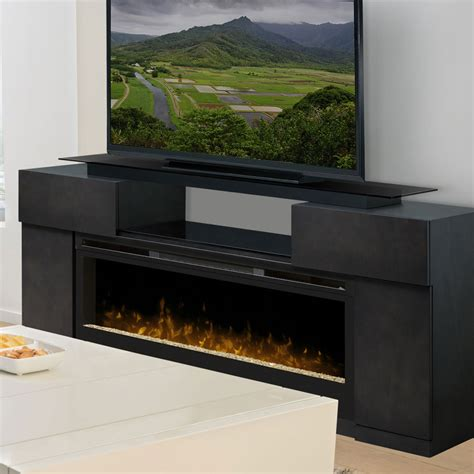 concord grey electric fireplace media console gds50