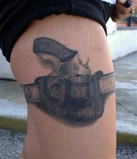 gun holster tattoo design 137 fantastic gun tattoos that hit their tattoos