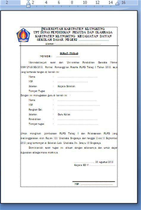 contoh surat tugas mengikuti kegiatan pelatihan diklat