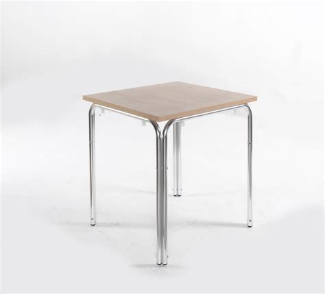 nantas aluminum stacking square cafe and bistro table