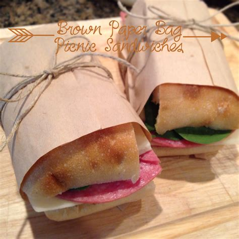 britt s apron brown paper bag picnic sandwiches
