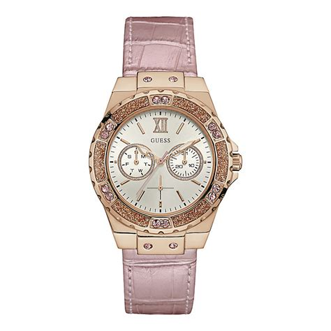 Guess Leather Pink guess white pink leather