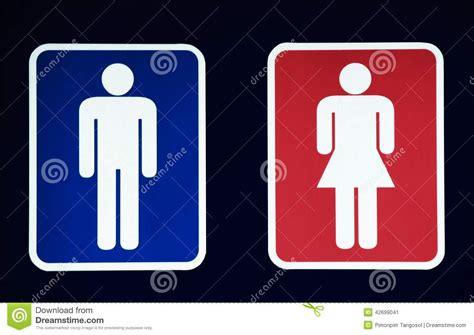 male female bathroom symbols male and female restroom symbol stock photo image 42699041