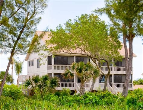 Sanibel Island Beachfront Cottage Rentals by South Seas Cottage 1416 Vacation Rental Captiva Island Fl