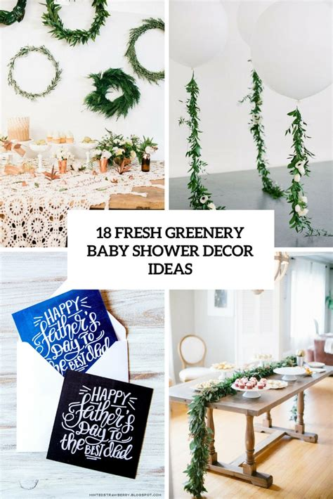 How To Make Wedding Decorations At Home 18 Fresh Greenery Baby Shower D 233 Cor Ideas Shelterness