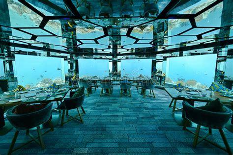 underwater restaurant stock image image of luxe kihavah underwater restaurant stock photo image 42810769