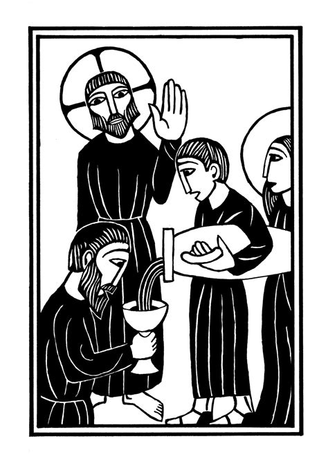 Wedding At Cana Sermon Illustration by Rosary Book Paul De Quay Illustration