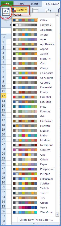 excel themes and styles excel 2010 styles and themes online pc learning