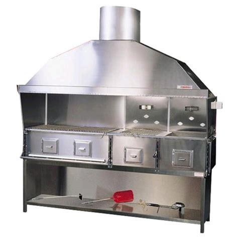 cucina vegetale cucina a carbone vegetale in acciaio inox n 176 4 fornelli
