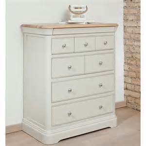 Drawer Furniture Painted Oak 7 Drawer Chest Of Drawers Lyon Bedroom