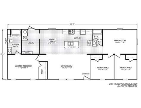 floor plan standards berkshire 24603b fleetwood homes