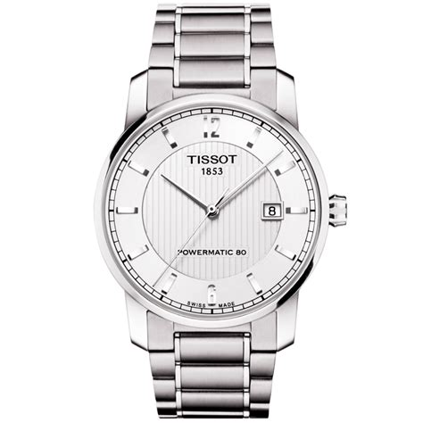 Tissot T0872074403700 Titanium Automatic Silver tissot titanium silver guilloche s powermatic automatic