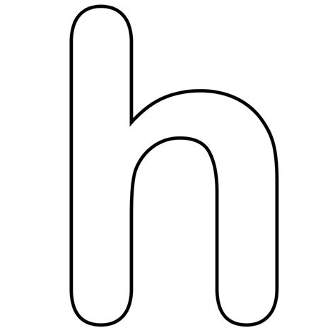 Free Coloring Pages Of Capital H Bubble Letter H Coloring Pages