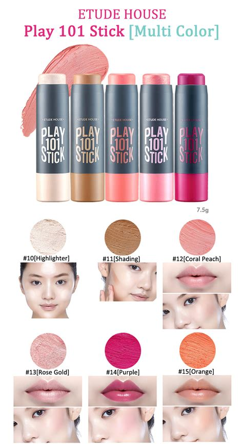 Play Stick 101 13 Soft Pink Etude House box korea etude house play 101 stick multi color 7 5g best price and fast shipping