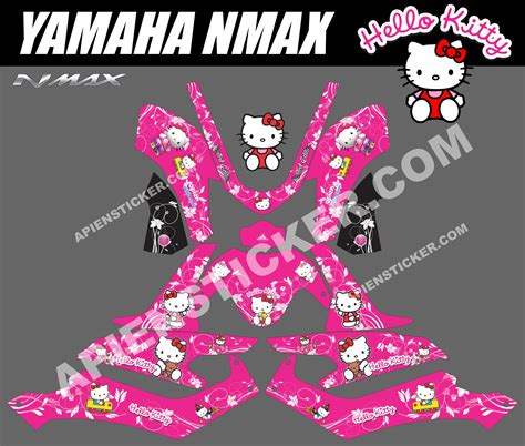 striping motor yamaha nmax  kitty apien sticker