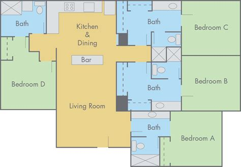 4 bedroom flat floor plan suites at adobe floor plan 4 bedroom 4 bathroom flat