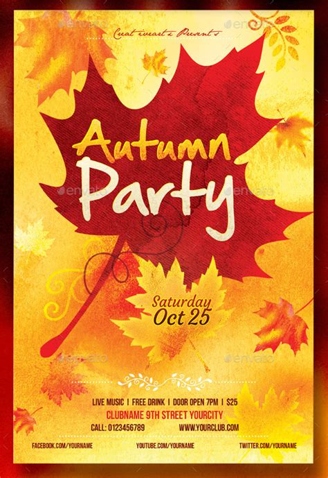 fall flyer best harvest and thanksgiving flyer templates
