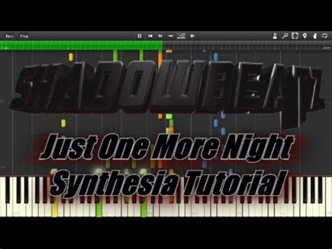 tutorial dance one more night quot shadowbeatz just one more night quot synthesia tutorial