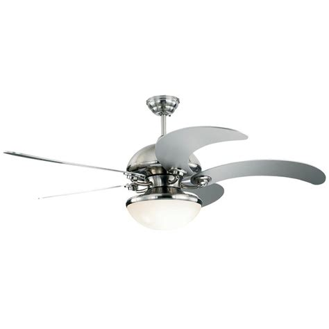 Montecarlo Ceiling Fans by Monte Carlo Centrifica 52 In Brushed Steel Silver Ceiling Fan 5cnr52bsd L The Home Depot