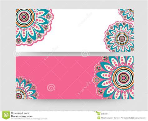 floral website header or banner set stock illustration