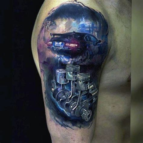 car part tattoos motor parts www pixshark images galleries