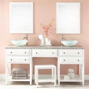 Double vanity with makeup area white bathroom vanities bathroom
