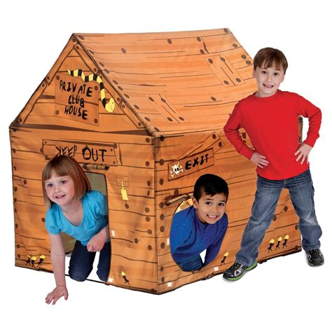 play tent house pacific play tents club house tent 300294 toys at sportsman s guide