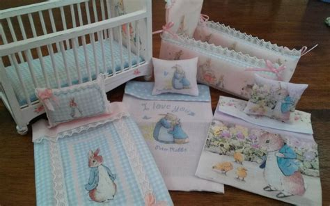 peter rabbit crib bedding 1 12 dollhouse miniature peter rabbit nursery crib and