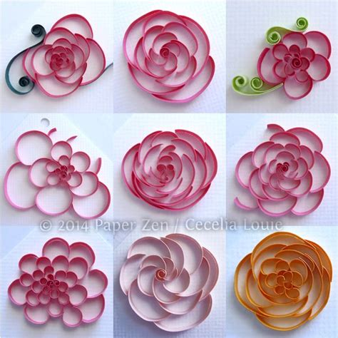 Paper Flower Designs - 1384 best images about quilling flowers on