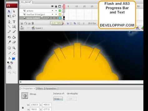 flash tutorial youtube video flash cs3 actionscript 3 progress preloader video tutorial