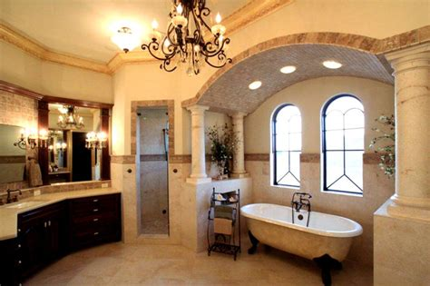 Mediterranean Style Bathrooms Venetian Style Waterfront Palazzo Mediterranean Bathroom Orlando By Henry Architect