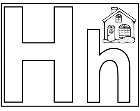 Free Printable Letter H Worksheets for Kindergarten ... H