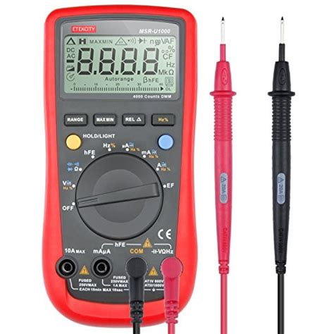 Automotive Multimeter etekcity msr u1000 auto ranging digital multimeter volt ohm capacitance meter