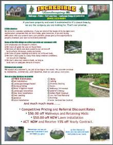 lawn care flyers templates lawn care business flyer exle lawn care business