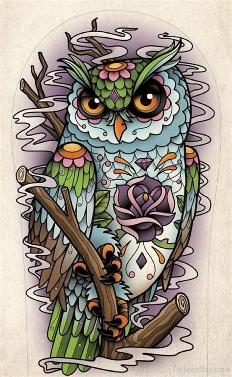 wise owl tattoo designs owl tattoos designs pictures page 34