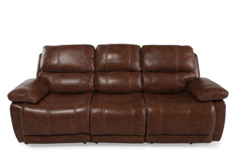simon li power reclining sofa leather 98 quot power reclining sofa in brown mathis