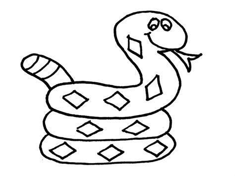 snake coloring pages free for children