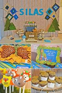 woodland themed boy baby shower spaceships and laser beams