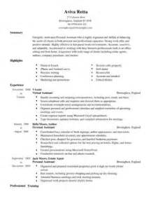 personal assistant cv exle for admin livecareer