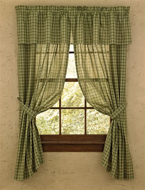 sturbridge curtains country curtains green sturbridge sheer curtain panels