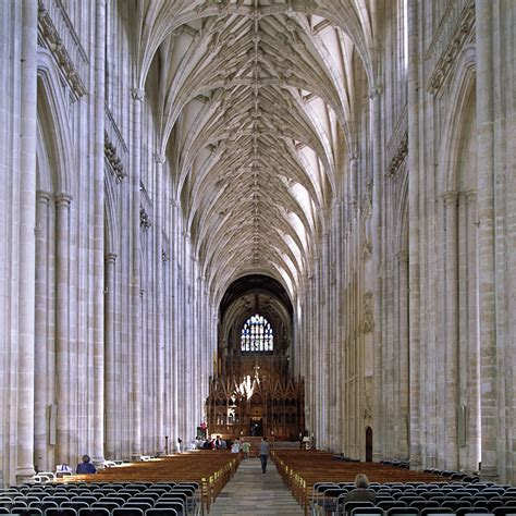 Cathedral Interior by Winchester Cathedral Wondermondo