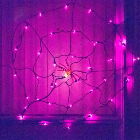 Spider Lights by Spooky Spiders Decorations Inspiration