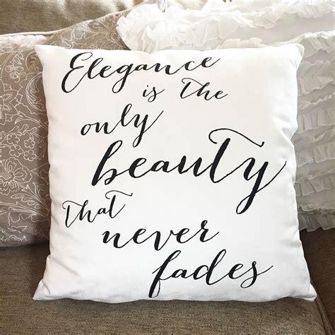 On On Cushion Hepburn by Hepburn Elegance Quote Cushion By Sweetlove Press
