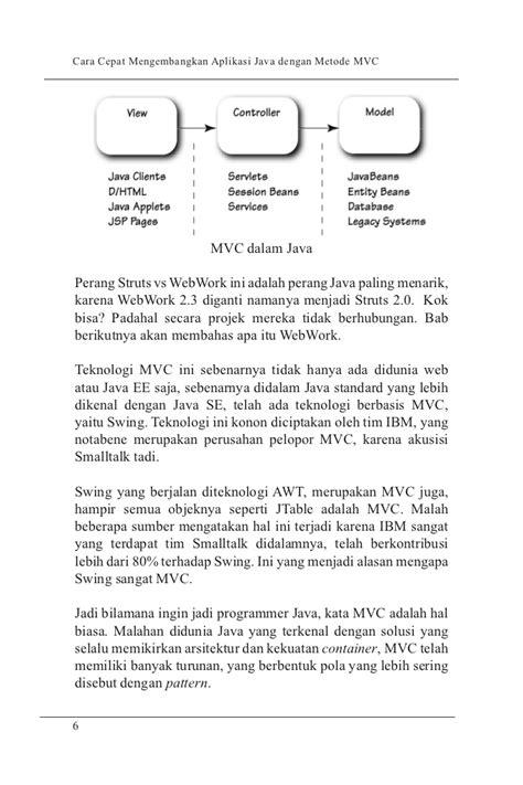 mvc pattern adalah cara cepat mengembangkan solusi java enterprise dg mvc